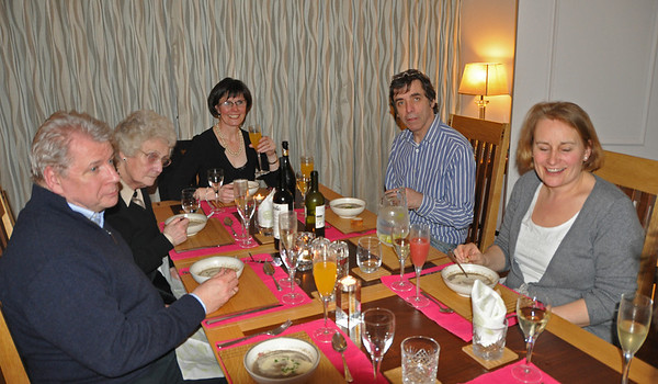Dinner with the Garvey's and the O'Brians 26-02-11