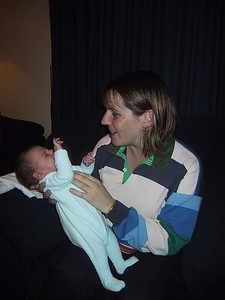 Mum (Maria) with Sebastian