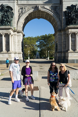 The Soldiers and Sailors Arch at Grand Army Plaza. And the Plummers!