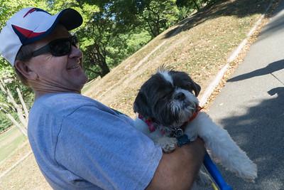 A nice guy and a nice pup: Gary and Nala.