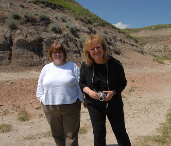 Sheila and Gail in the Badlands.