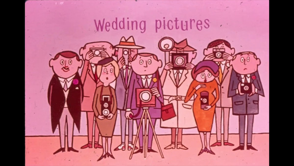VIDEO:  This is video footage of family/wedding party lining up for photographer