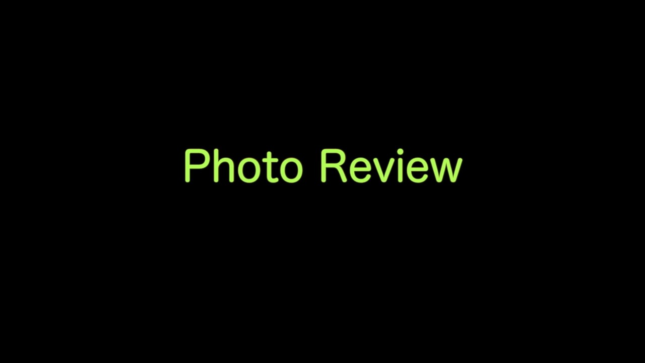 VIDEO:  Photo Review