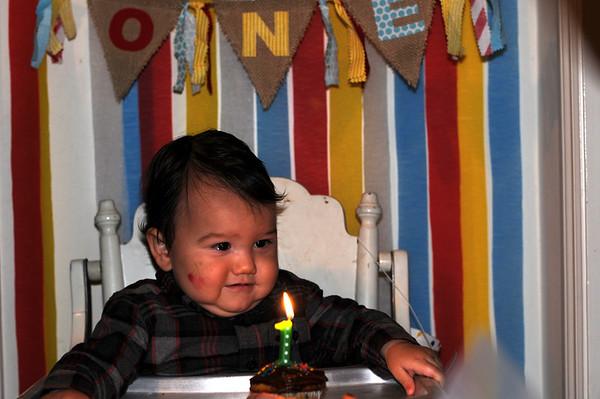 Thomas' First Birthday Party! 11-29-14