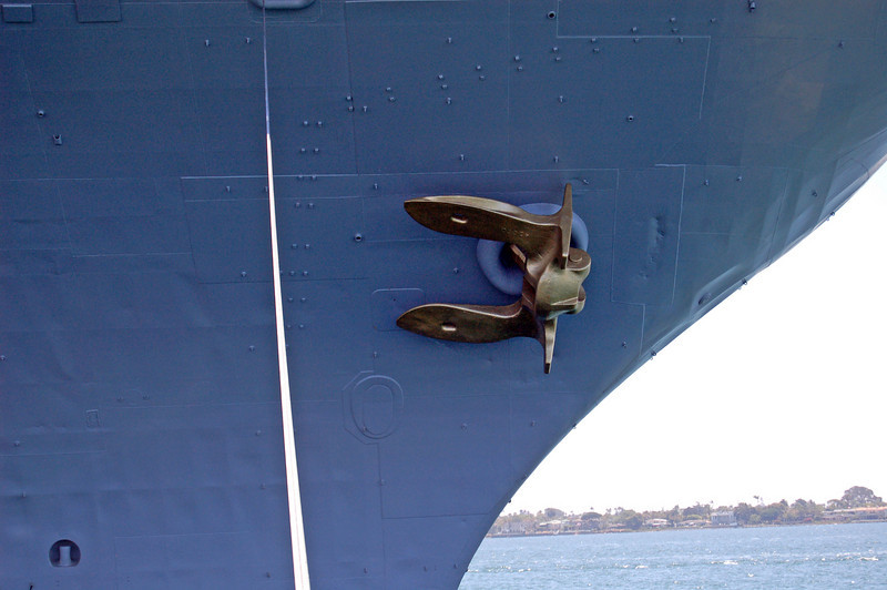 Gold Anchor on Midway Bow