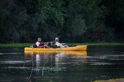 Tony (in the front), Lucy, and John as they approach the Sacramento River. I was standing at the waxhout.