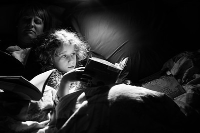 Evening reading.