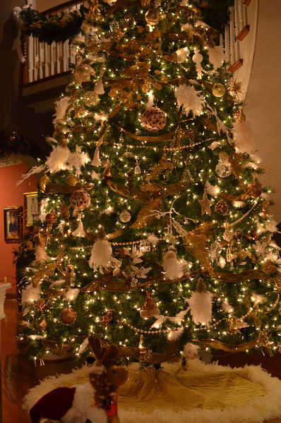 the tree in the front foyer