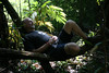 Resting during our 6 hour hike in N. Thailand (overnight trip from Chiang Mai).