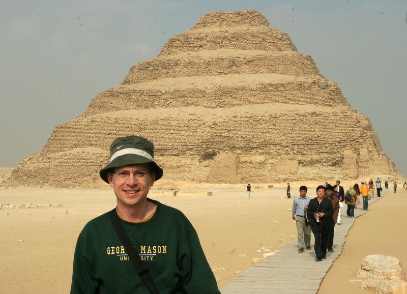 Eric at Saqqara, Zoser's step pyramid (2650 B.C.)
