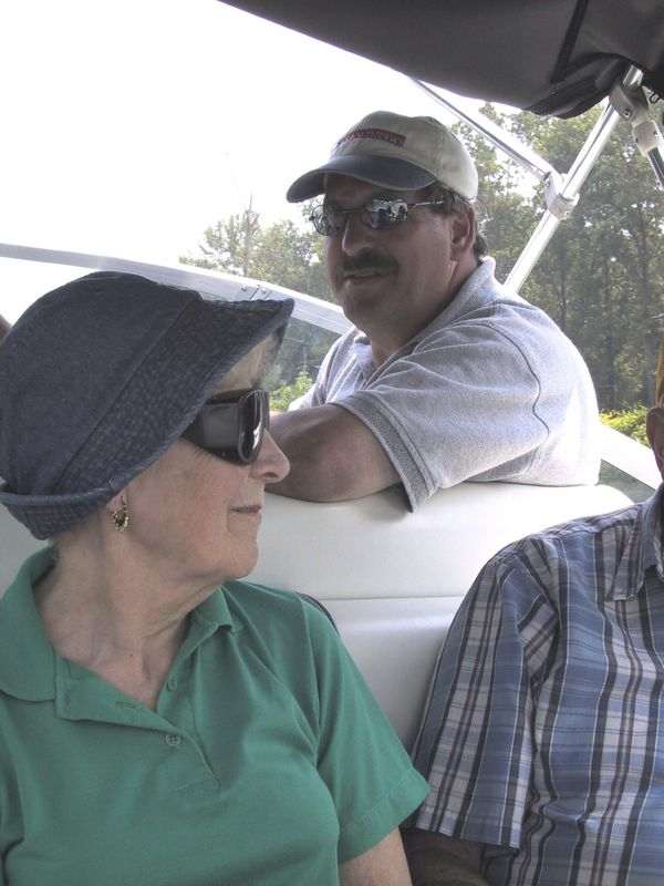 Norm and Gran on the boat
