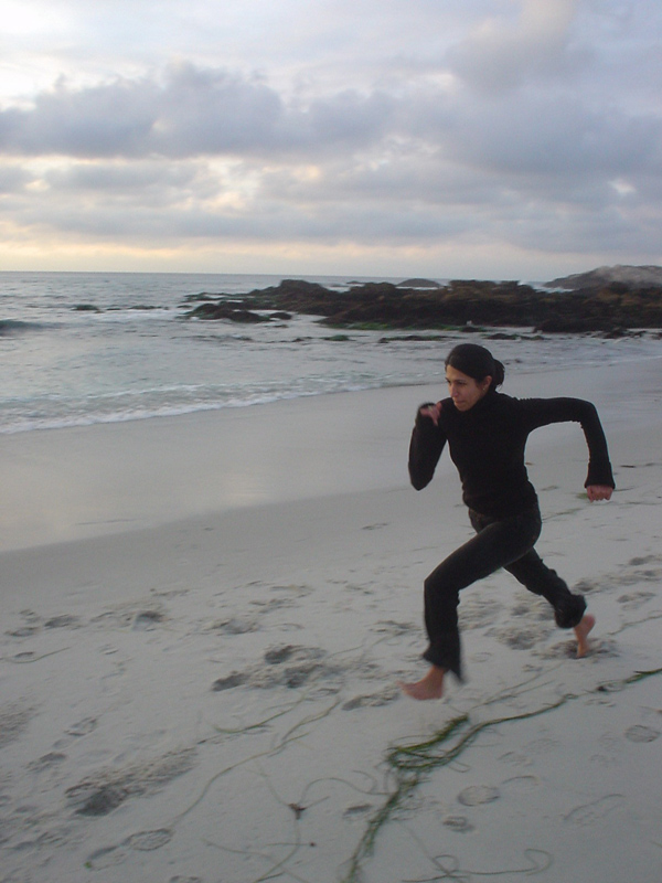 mridu going full steam for a long jump