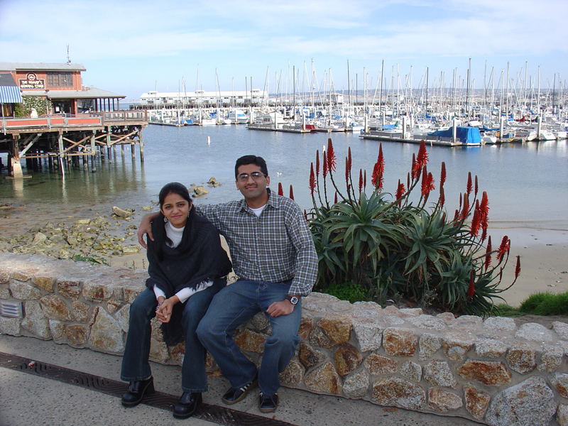 sachin & shweta at the beginning of the wharf