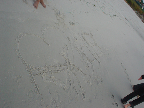 mridus signature on the beach was played around with