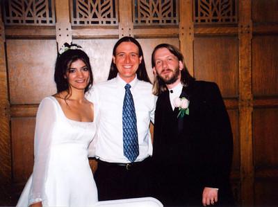 Allen & Sofia got married in 2001. For more photos of their wedding: http://new.photos.yahoo.com/cbarreb/album/576460762367556074