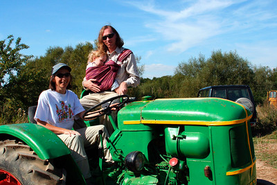 Brian Craft and his daughter Molly at my brother's farm in France (August 2005)