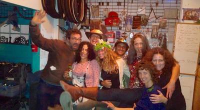 Wild bunch: Ed, Joanna, Charlie, Ann, Maggie