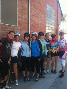 After Thanksgiving ride (coffee & almond croissant at Handlebar)