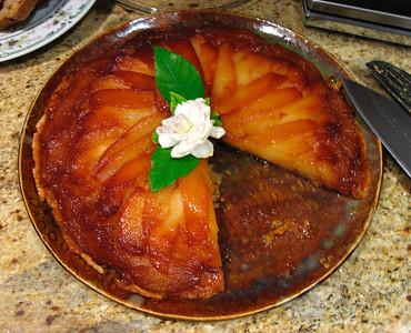 Delicious pear tatin tart