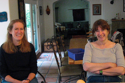 Our neighbor Patsy & Gwen, our canning expert