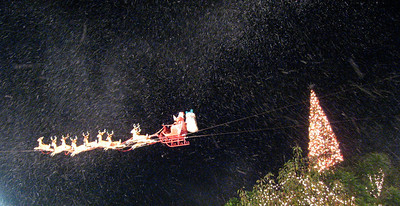 Santa under the snow