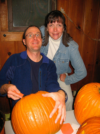 Pumpkin carving party in Boulder, CO (Oct 2007)