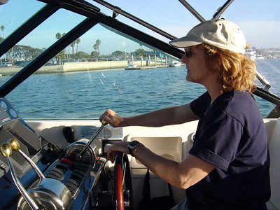 Julie on her boat (September 2004)