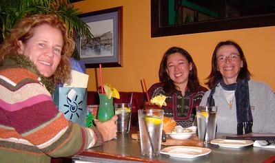 Linda's birthday (Dec 2005). Celebration in Huntington Beach