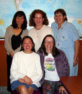 Sooling, Melanie, Ellen, Linda & Christine in Costa Mesa. Linda's birthday (Dec 2003)