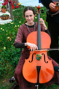Jill is playing the cello for Antara's wedding (April 2007)