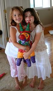 Owen's birthday: Ella & Kate (Aug 2005)