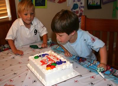 Aug 2005: Owen and his friend Jack