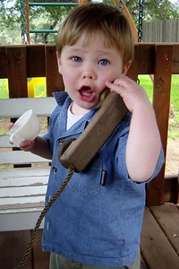 Owen on the phone (March 2003)