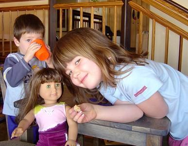 Christmas 2004: Ella and her American girl