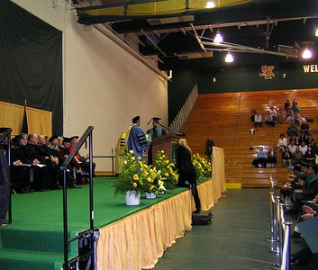 J getting the Diploma