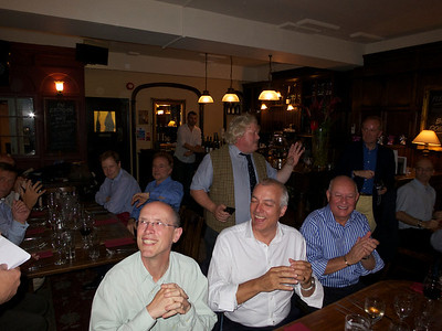 Ullathorne 72-74 reunion 12 Jul 12.   Front, l – r: Tony Randle, Brian Burke (standing), Bill Kirkham, Tony de Loriol, Guy Giraudeau (in distance).