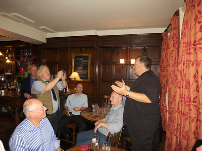 Ullathorne 72-74 reunion 12 Jul 12. Jeremy W to camera for Dom Gervase.