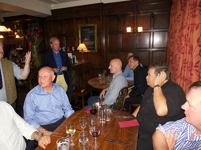 Ullathorne 72-74 reunion 12 Jul 12. L – r: Bill Kirkham (striped shirt), Peter de Loriol (blue shirt), Chris Rogal, Mark Canning (partly hidden), Martin Kochanski, Jeremy Wilkinson, Nick Rea (nearest camera).