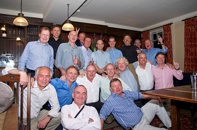 Ullathorne 72-74 reunion 12 Jul 12. Front l – r: Ed Knox, Guy Wrench, Chris Barker, Tony Kennedy, Tony Randle, Nick Rea (asleep), Brian Burke, Mike Sudlow, Pat Rea. Back r – l: Bill Kirkham (with glass), Anthony Carvell, Jeremy Wilkinson, Mark Canning, Guy Giraudau, Charlie Russel, Peter de Loriol, Chris Rogal, Martin Kochanski, Jeremy Carvell.