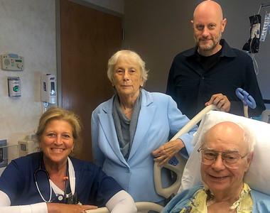 Kim Bergstedt, Carol, Andrew, John in ICU