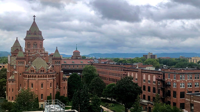 Next morning ... John is in La Crosse's Mayo Clinic Hospital with sepsis.  This is the adjacent St. Rose Convent.