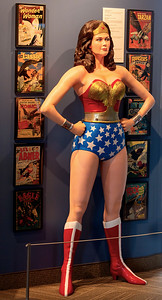 Comic Book display with Wonder Woman.  (In the National Eagle Center ... ??)
