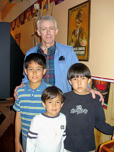 Rand Millar with his three sons
