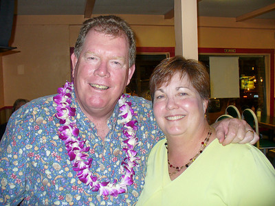 John and Mary Pat The lei was from Terrie Prouty in Maui