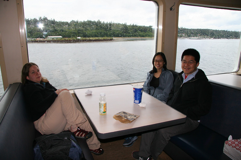 Wally, Sandra and Amy at the ferry to Bainbridge island