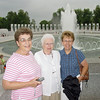 Three ladies from Hummelstown, Pennsylvania, joined their husbands on this August 2004 outing to the World War II Memorial in Washington, D.C.  Left-to-right:  Joan Smith, Marion Davidson, and Karen Miller.