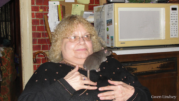 Becky and Precious Rat.