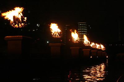 Waterfire for Sonnie's and Etta's birthdays