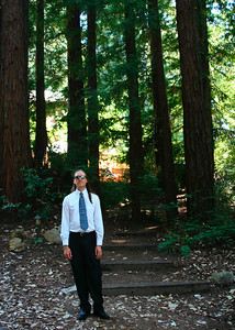 Dave under the redwoods