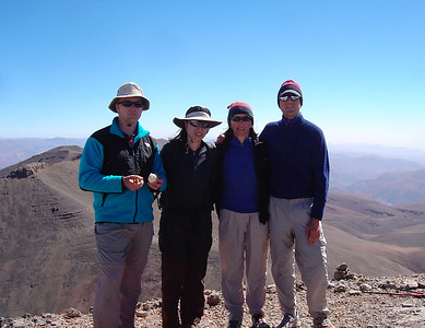 Day 4 of a 3 week trek in Morocco: summit of 2nd highest peak in North Africa (4068m)